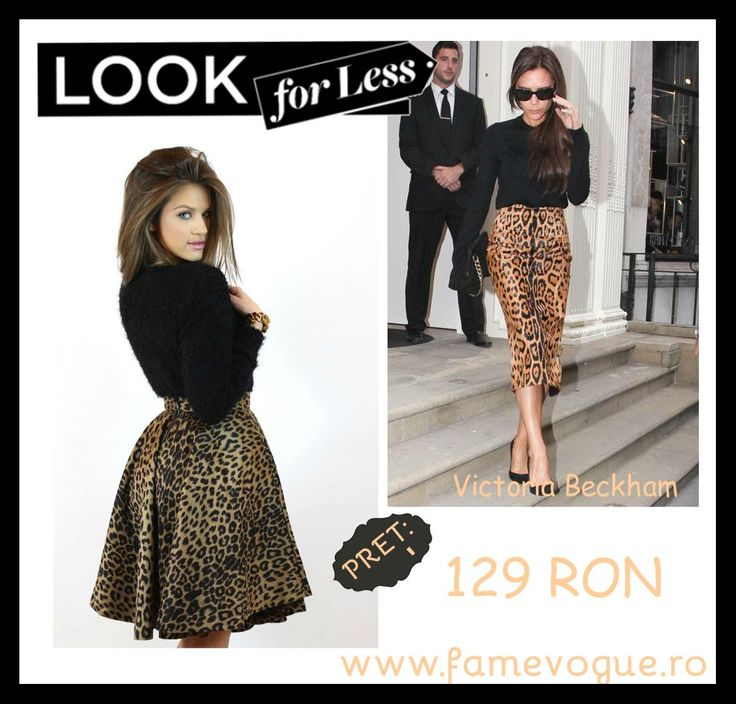Are you lusting after an outfit similar to the ones Victoria Beckham rocks? Check out this chic #animalprint #midi #skirt...:)  #casual #celebrity #style #fashion #trends