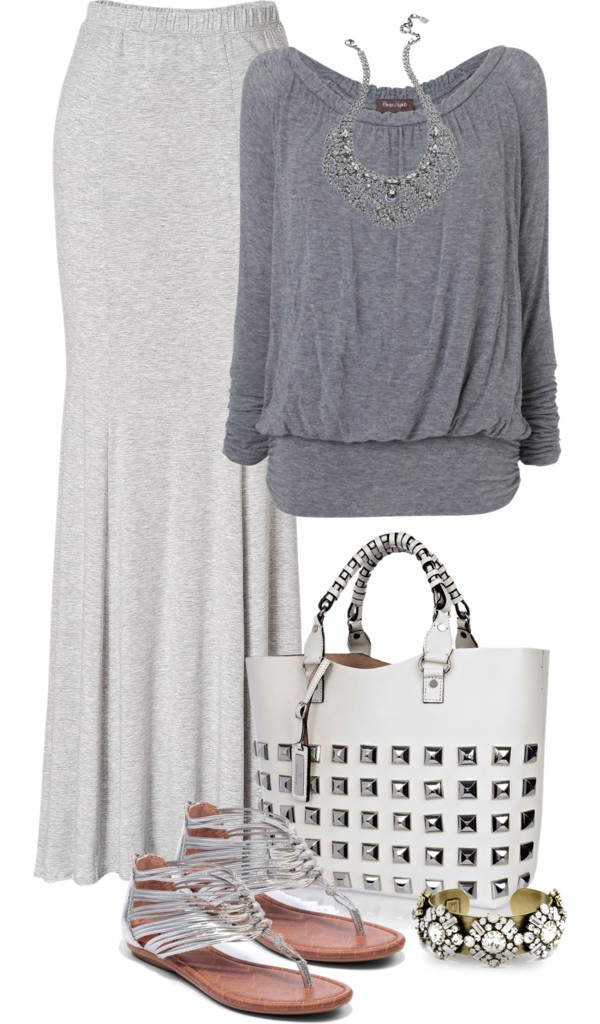 """MAXI SKIRT CONTEST"" by lisa-holt ❤ liked on Polyvore"