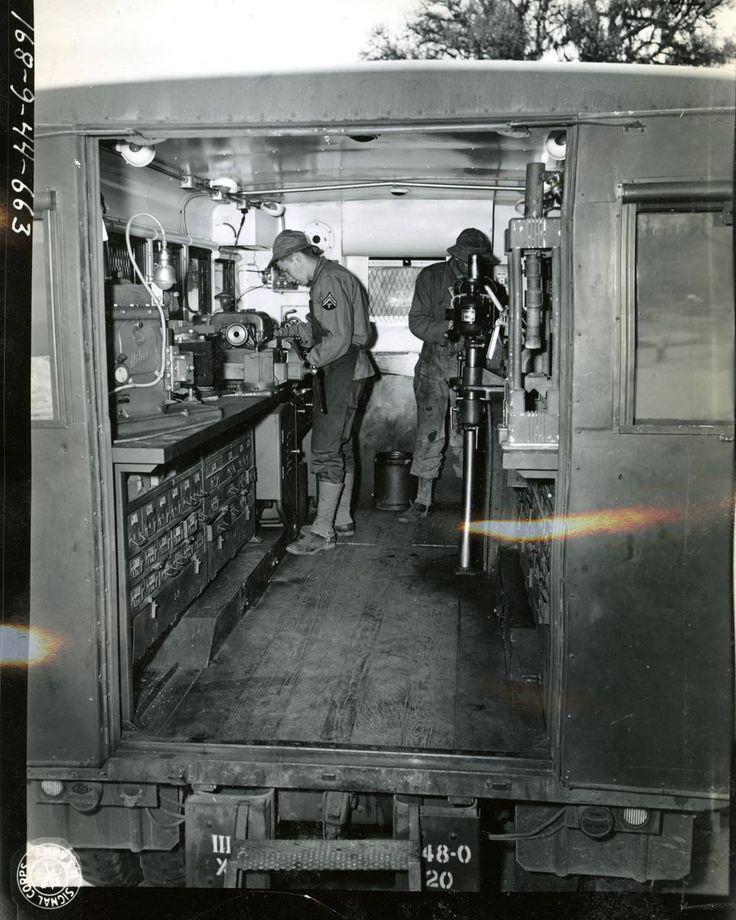 548th Ordnance Heavy Maintenance Company machine shop at