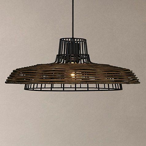 Buy John Lewis Ayo Raffia Weave Ceiling Light, Dark Brown Online at johnlewis.com