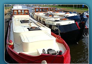Beautiful Dutch Barges for Sale and floating homes, Bowcrest marine, UK