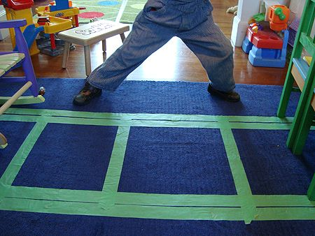 Sisal Rug Tape up a train track for your toddler