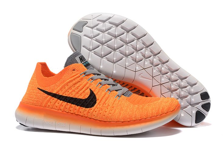 NIKE FREE FLYKNIT 5.0 Orange/Light Gray Size: 36--39