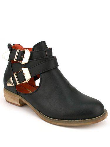 Cendriyon, Boots Looks Noires RELLS Ajourées Chaussures Femme: Amazon.fr: Chaussures et Sacs