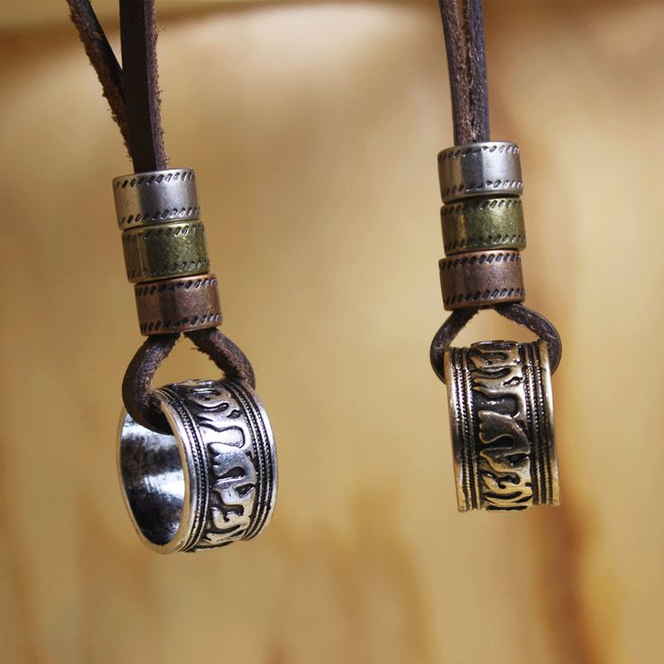 leather necklaces,high quality men retro totem necklace,100%genuine leather,handmade resizable pendant,unique gypsy boho jewelry