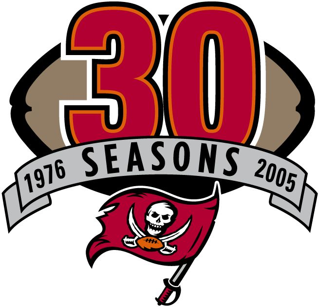 images OF THE TAMPA BAY BUCCANEERS FOOTBALL LOGOS | Tampa Bay Buccaneers Anniversary Logo (2005) - 30th Anniversary of the ...