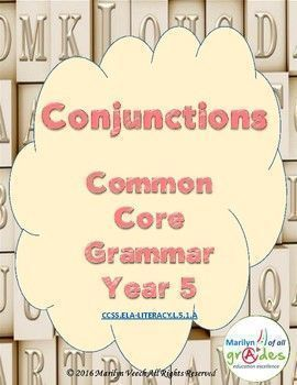Conjunctions - Common Core - Year 5