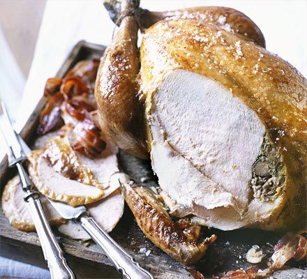 The classic Christmas turkey with a flavour-packed sausage-based stuffing - you'll have plenty left to serve on the side too