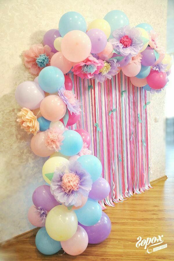 Diy Unicorn Party Decorations Balloon Decoration For Birthday Backdrop Streamer
