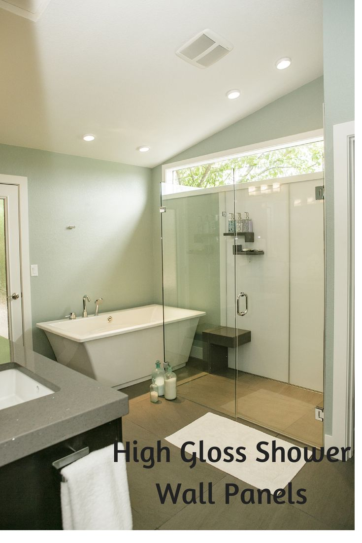 Modern island kitchen design using granite kitchen photo 388980 - Check Out These High Gloss Shower Wall Panels Very Contemporary They Look Like Back