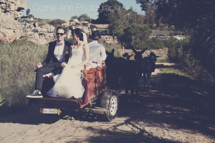 donkey cart as wedding transport http://corneannphotography.wix.com/corneannphotography