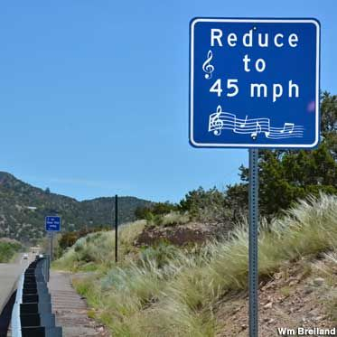 singing road route 66 | Musical Road sign.