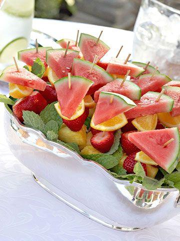 Fruit KabobsFruit Salad, Recipe, Brunches, Parties, Food, Fruit Kabobs, Fruit Skewers, Bridal Showers, Fresh Fruit