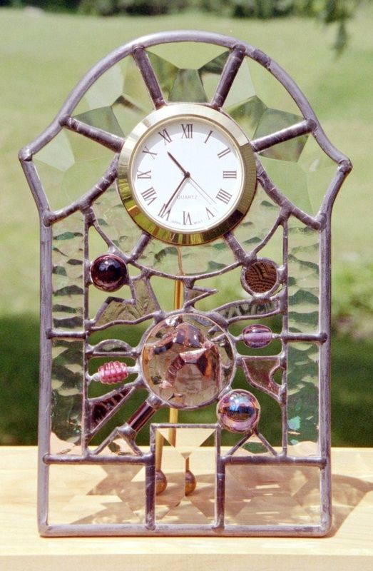 71 Best Images About Stained Glass Clocks On Pinterest