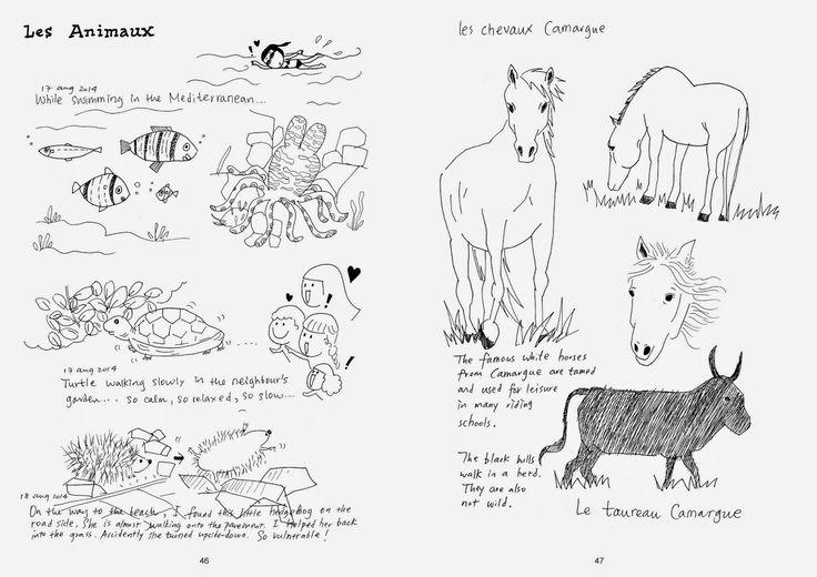 Shiuan-Wen Chu's Graphic Novels: Chu Cat Chronicle, number 5, pg 46-47