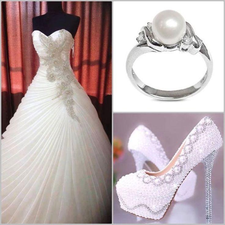 Wedding Dress, Jewellery And Shoe Combinations