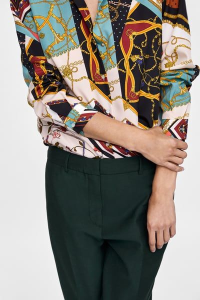 337df37bb3b Image 6 of PATCHWORK CHAIN PRINT BLOUSE from Zara