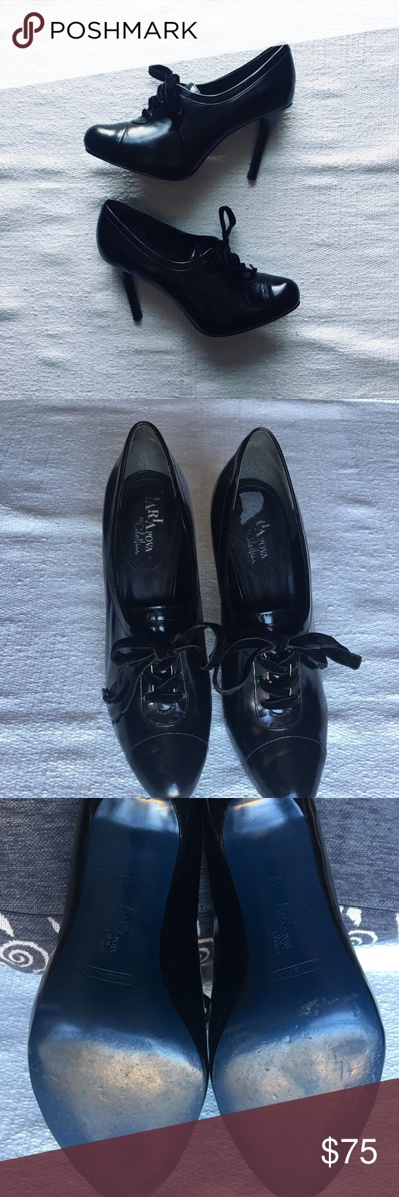 Cole Haan Boot Cole Haan Maria Sharapova Oxford Pump Size 9.5 /Nike Air comfort & 4 inch heel Velvet laces *small show of wear inside the left insole and small scuff (shown in photos) *worn only a few times/great condition! *no box Cole Haan Shoes Ankle Boots & Booties