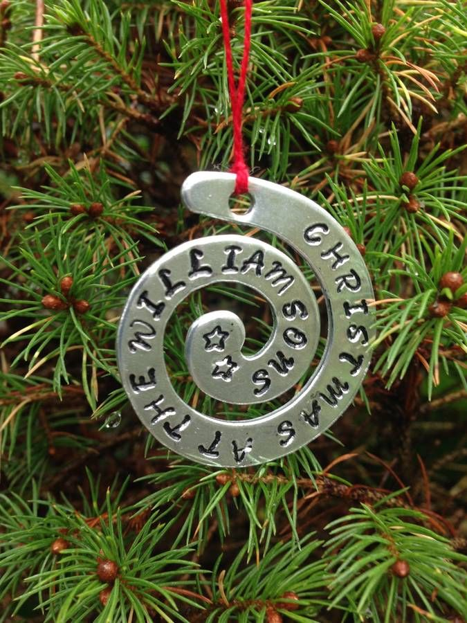 personalised christmas tree decoration by the little lancashire smallholding | notonthehighstreet.com