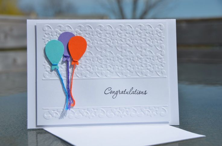Stampin' Up Congratulations Balloon Greeting Card with matching envelope by LoveThoseCards on Etsy https://www.etsy.com/listing/188840073/stampin-up-congratulations-balloon
