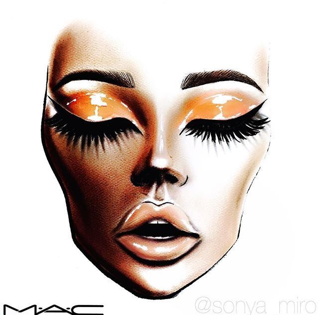 #FACECHART MAC Face Chart | Make up | Pinterest