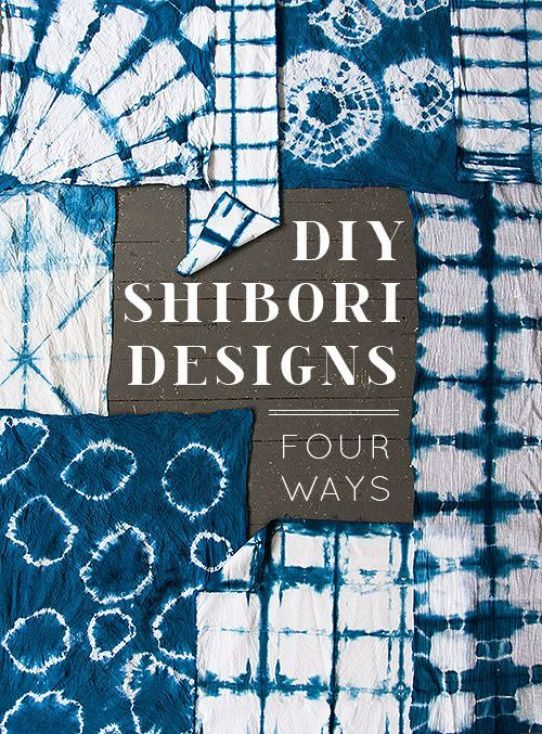 DIY Shibori Dyeing Tutorial from Design Sponge. Excellent...... (True Blue Me & You: DIYs for Creative People)