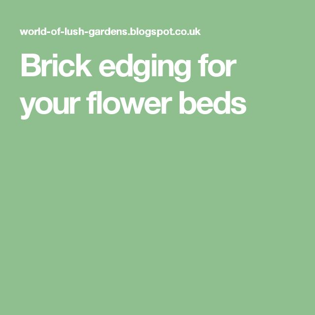1000 ideas about brick edging on pinterest plastic pond for Brick edging for your flower beds