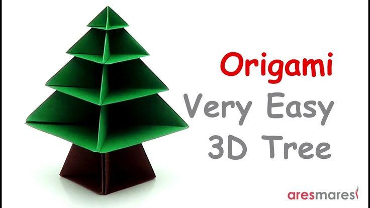 Origami 3D Tree (easy - modular) Oh Christmas tree, Oh Christmas tree, Such pleasure do you bring me! #origami #unitorigami #handmade #colorful #origamiart #papercraft #paperfolding #paperfold #paperart #papiroflexia #origamifolding #instaorigami #interior #instapaper #оригами #折り紙  #ユニット折り紙 #ハンドメイド #カラフル