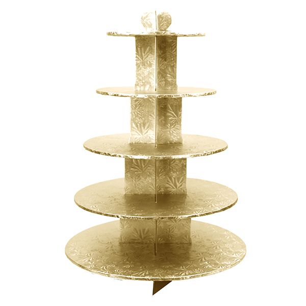 Gold is the new black, and this cupcake stand is perfection!
