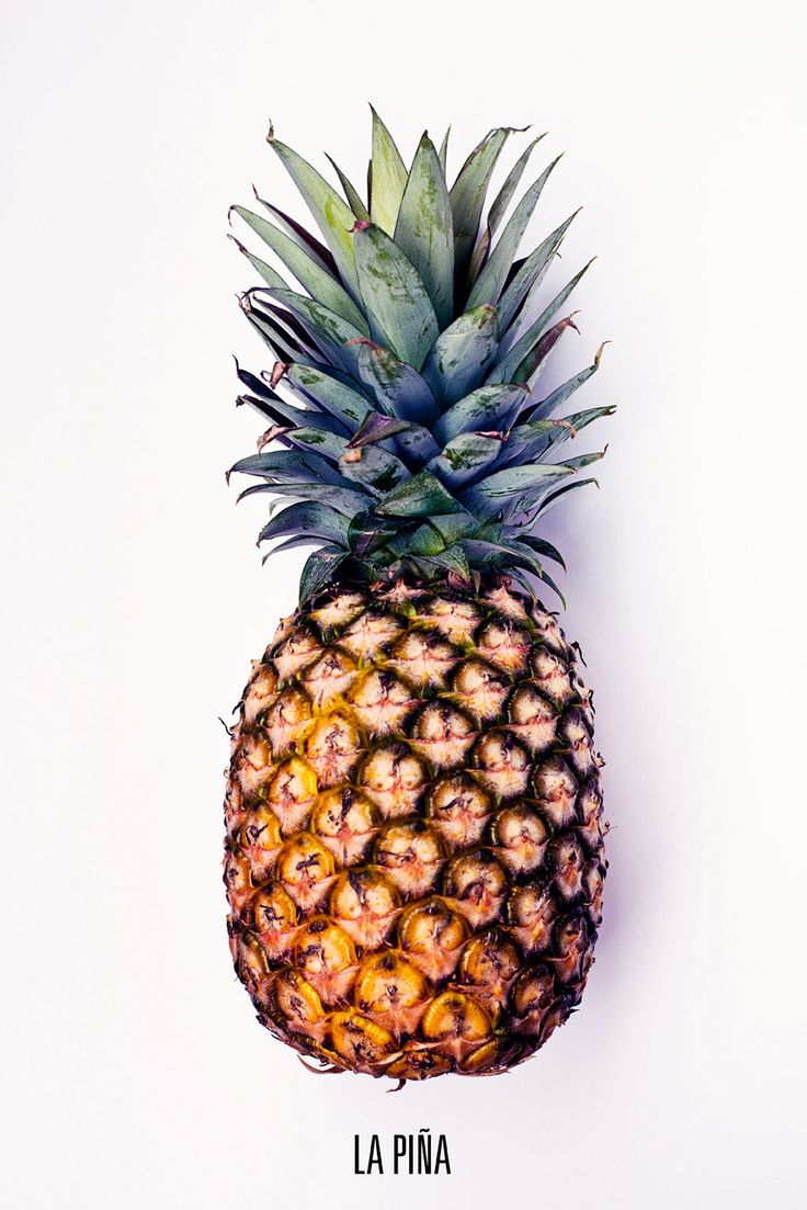 Upside Down PINEAPPLE Photo Fruit Photo Food por