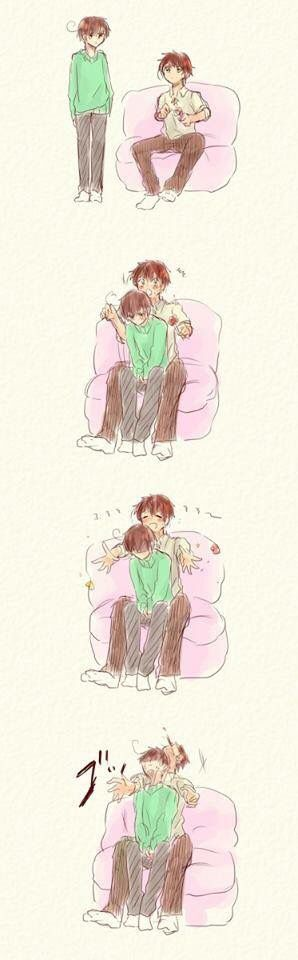 Spamano<-- Lovi got too embarrassed~ A-aha~ He's still mi lindo tomate~