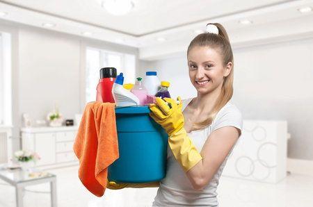 ...Naplňte plastový koš nebo kbelík vším, co budete během úklidu potřebovat. Dejte do něj všechny čisticí prostředky, hadry, prachovku i kartáčky. Možná vám to přijde zbytečné, ale brzy zjistíte, že tak ušetříte spoustu času, který jste jindy strávili neustálým odbíháním pro potřebné propriety