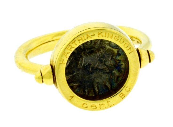 bulgari bulgari antique coin and 18k yellow gold ring truefacet
