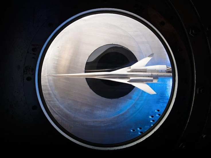 Big Pic: What A Supersonic Aircraft Model Looks Like In A Wind Tunnel / Popular Science