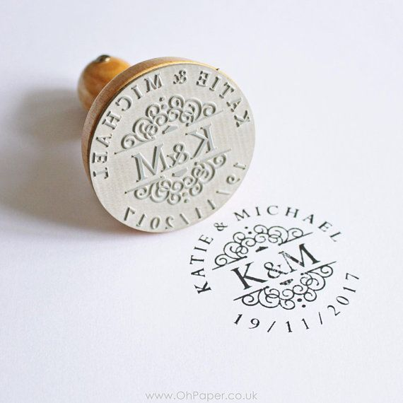Wedding Invitation Stamp Save the Date Small Stamp Custom Stamp Personalized Name Rubber Stamp for Guest Favors Wedding Stamp Elegant