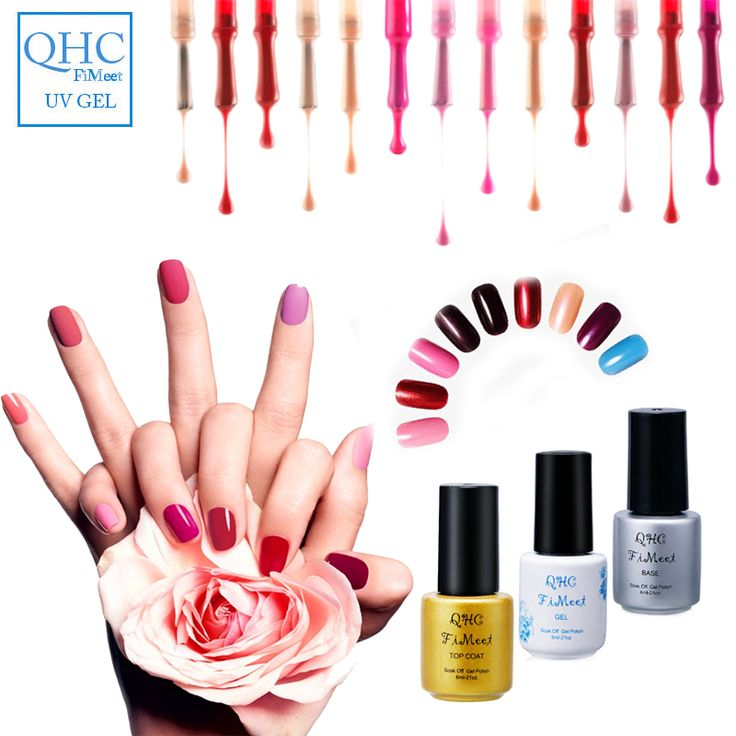 QHCNail Gel Polish Gel Long-lasting Soak-off Gel Nail LED UV 6ml  1Pcs Nail Gel 1-60  please leave a message what color you need ** Find out more by clicking the image
