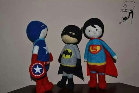 Crochet toy superhero