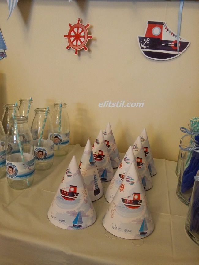 Kürşad'ın Denizci Temalı 2 Yaş Doğum Günü Partisi   nautical sailor themed birthday party elitstil.com