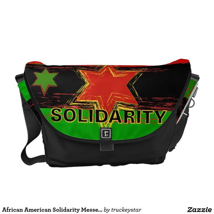 African American Solidarity Messenger Bag