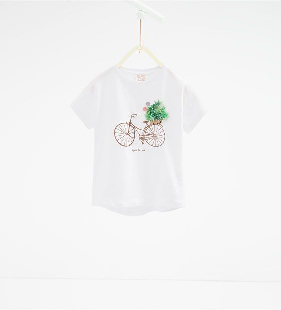 Image 2 of T-shirt with applique from Zara