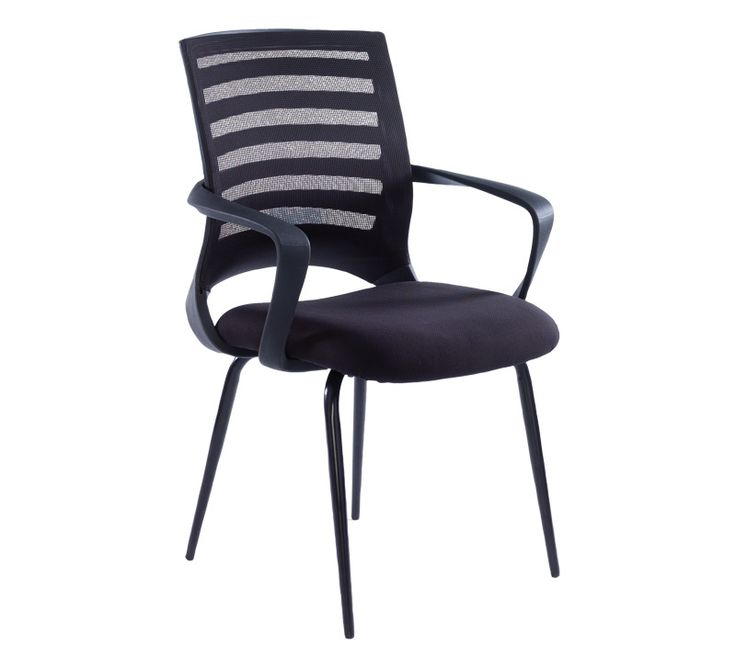 Vega Mesh Visitors Chair With Mesh Back And Fabric Seat   London Office  Interiors