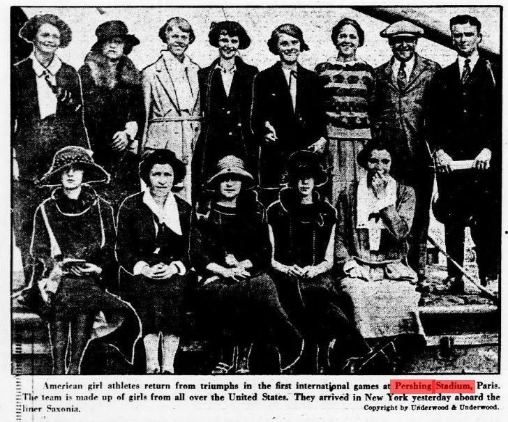 Retour de l'équipe américaine aux USA, 3 septembre 1922, à bord du Saxonia
