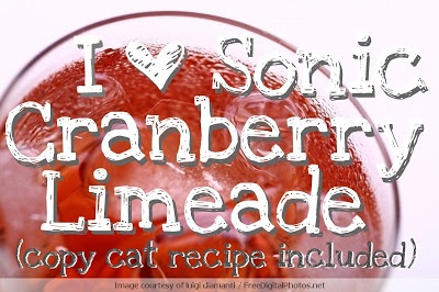 Sonic Cranberry Limeade copy cat recipe. Yum! Simple recipe can make a glass or a pitcher full. A great drink for summer parties. || Tiny Cherry Workshop