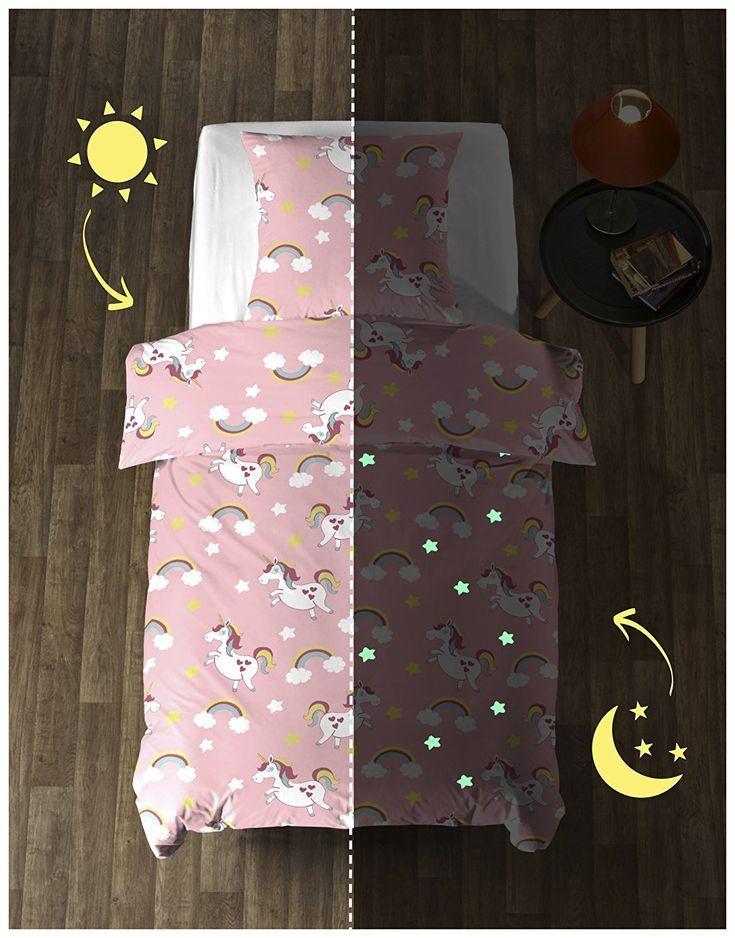 Leuchtende Einhorn Bettwäsche Diese Coole Bettwäsche Ist