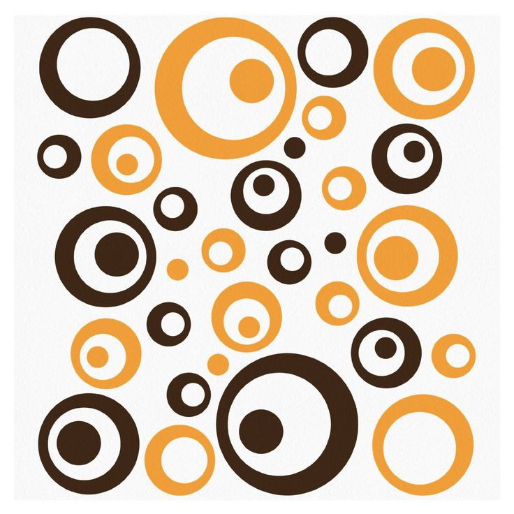 Wandtattoo 46 XL Retro Dots Kreise Wandtatoo Wandaufkleber WANDfee: Amazon.de: Küche & Haushalt