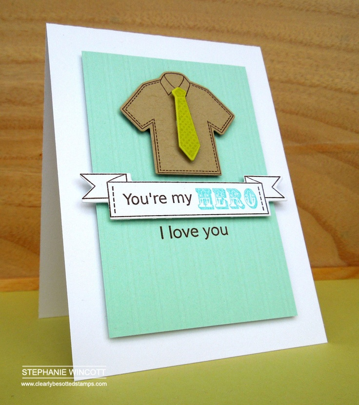 Clearly Besotted Stamps Super Dad | Clearly Besotted Stamps