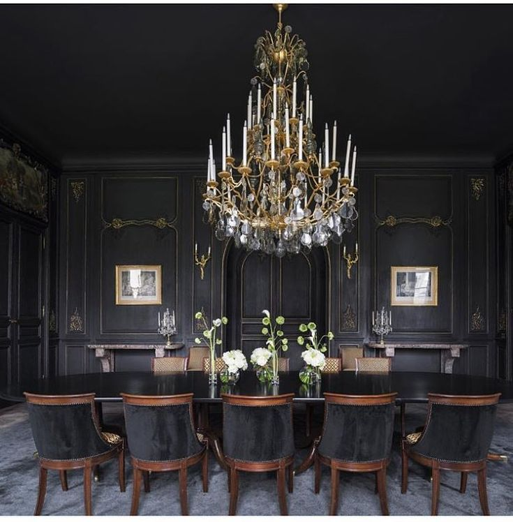 Best 25+ Black Dining Rooms Ideas On Pinterest