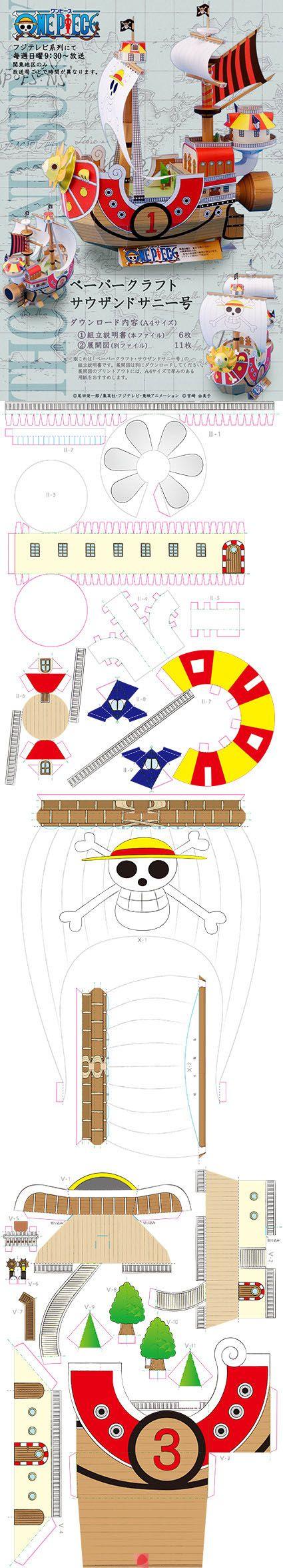 Cut out Pirate ship