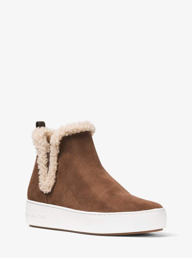 Ashlyn Suede and Shearling High-Top