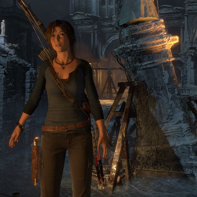 Rise of the Tomb Raider Blue Henley Outfit~ Reminds me of uncharted Nathan's outfit!